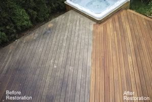 Before and After Restoration - Decks by NHIC