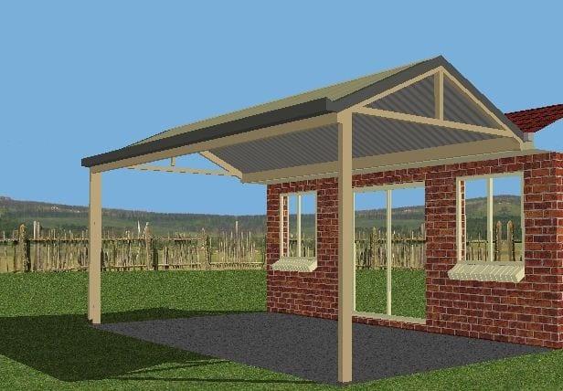 DIY Gable Roof Awning Kit - DIY Kits - Narellan Home Improvement Centre Camden