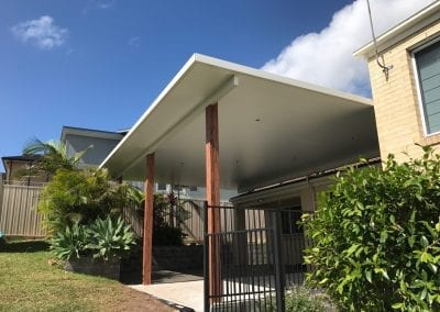 Flyover insulated roof pergola
