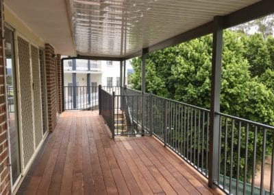 Colorbond Pergola and Merbau Deck Glen Alpine
