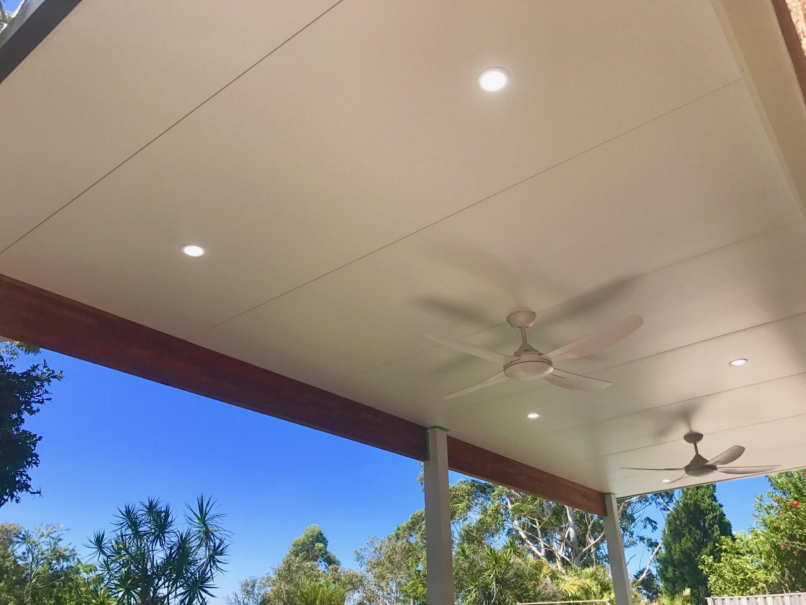 Flat Insulated Roof Pergola Macarthur - NHIC - Call 4647 8111 For A Free Quote