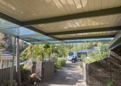 Flyover Flat Colorbond & Perforated Roof Carport, Otford