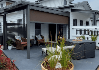 Flat Insulated Pergola with Ambient Outdoor Blind and Privacy Screen, Tullimbar